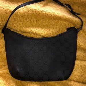 "VINTAGE Gucci ""GG"" Monogram Slim Pochette Bag"